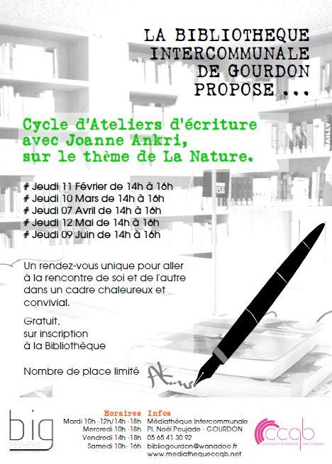 BIG - ateliers écriture