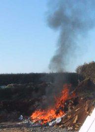 ordures feu