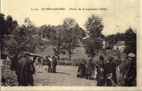 La foire de Dégagnazès en 1932