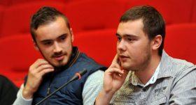 2 jeunes ambassadeurs lotois Geoffrey Crabet et Marc Albert