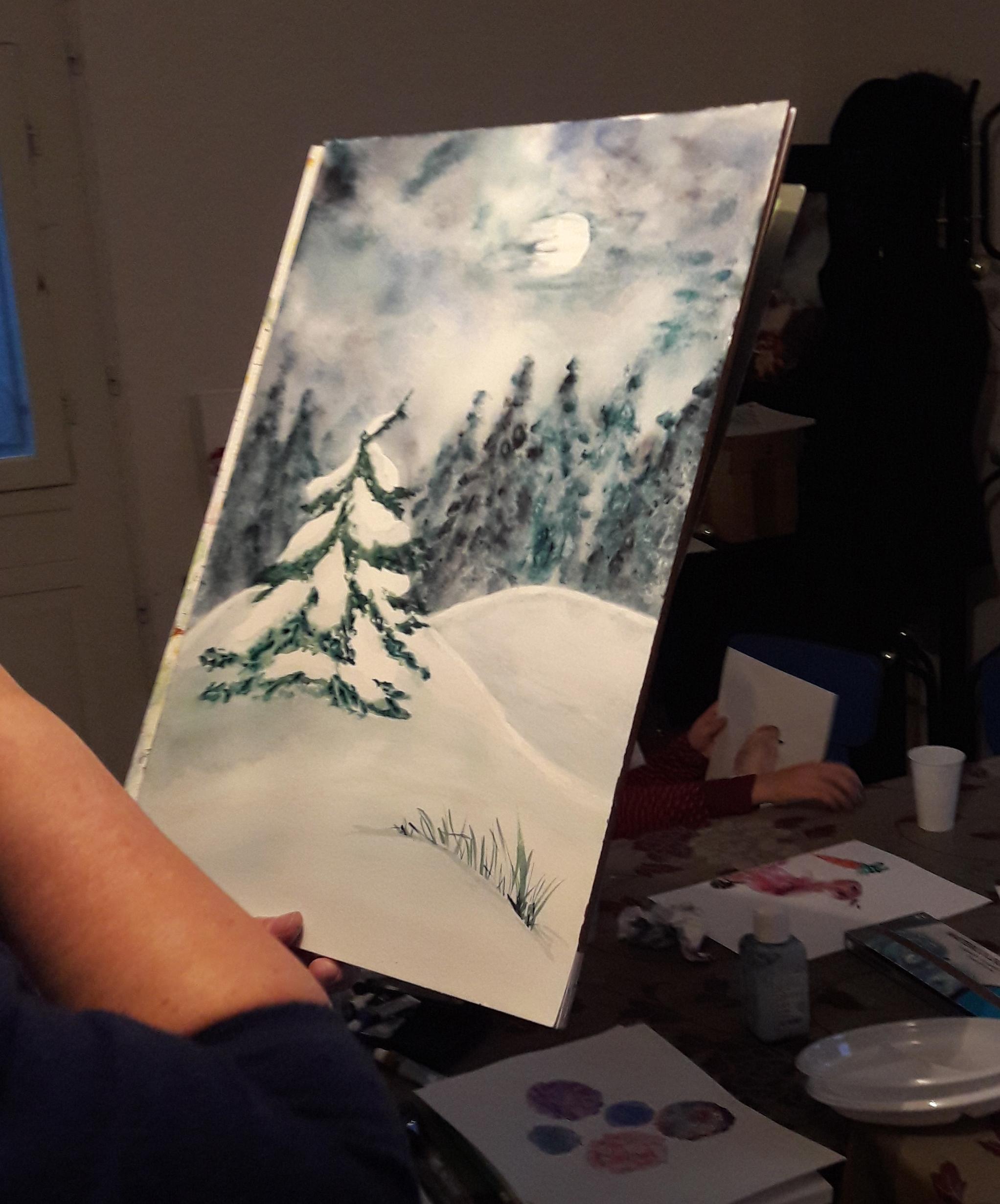 Représentez des paysages hivernaux à l'aquarelle !