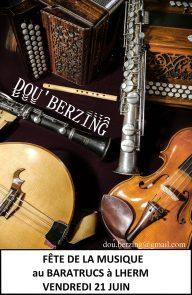 Fête de la Musique à Lherm avec Dou'Berzing