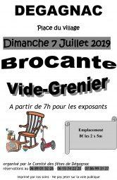 Brocante, Vide grenier à Dégagnac