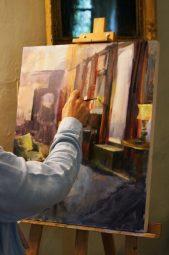 Proces de dessin et peinture par Karina knight