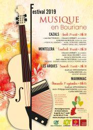 Affiche du Festival 2019 Msique en Bouriane