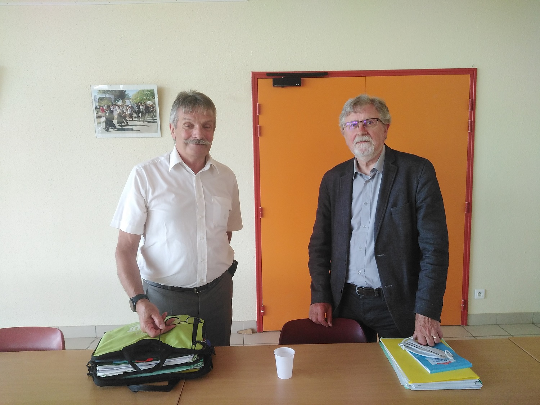 Robert Lacombe et Gilles Vilard, Président et vice-Président du SYMICTOM