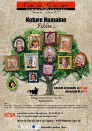 Comedie-et-Caracteres-compagnie de theatre et d art oratoire-presente Nature humaine fables - Eglise de Rassiels octobre-2020