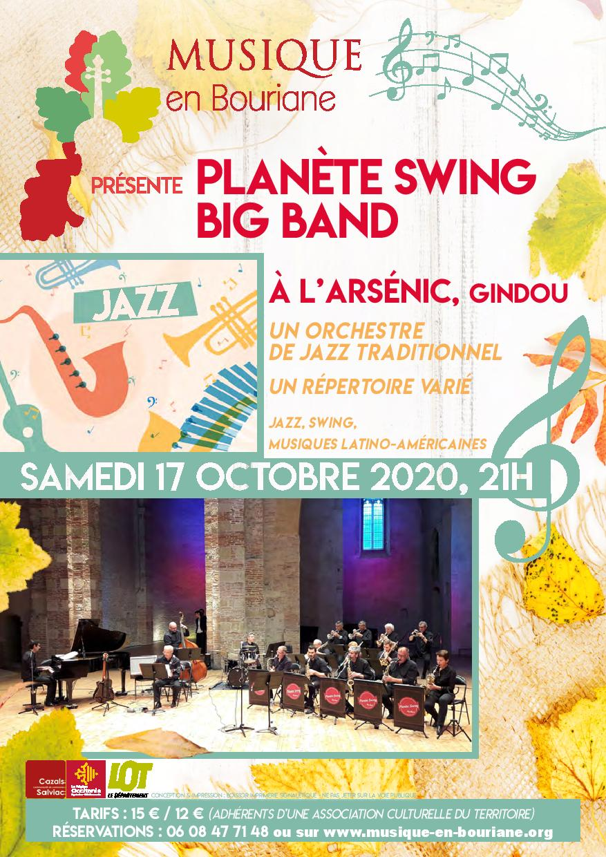 flyer planète swing big band